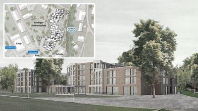 Die Visualisierung zeigt «Margerite», das Siegerprojekt des Wettbewerbs für das Alterszentrum Würenlos. (Bild: zvg)