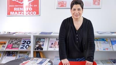Silvia Dell'Aquila, Präsidentin des Aargauischen Gewerkschaftsbundes, setzt sich gegen die zunehmende Lohnungleichheit ein. (Bild: Iris Krebs)