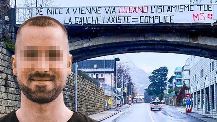 Rechtsextreme Gesinnung: JSVP-Mitglied Simon A. aus dem Wallis. (ZvG)