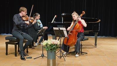 Das Onyx-Trio verzauberte die Zuhörerinnen und Zuhörer derSeeklang-Konzertein Hergiswil am Samstag und Sonntag. (Bild: PD)