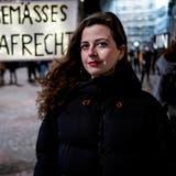 Vom Opfer zur Aktivistin: Morena Diaz demonstriert. (Kenneth Nars (Basel, 2.2.2021))