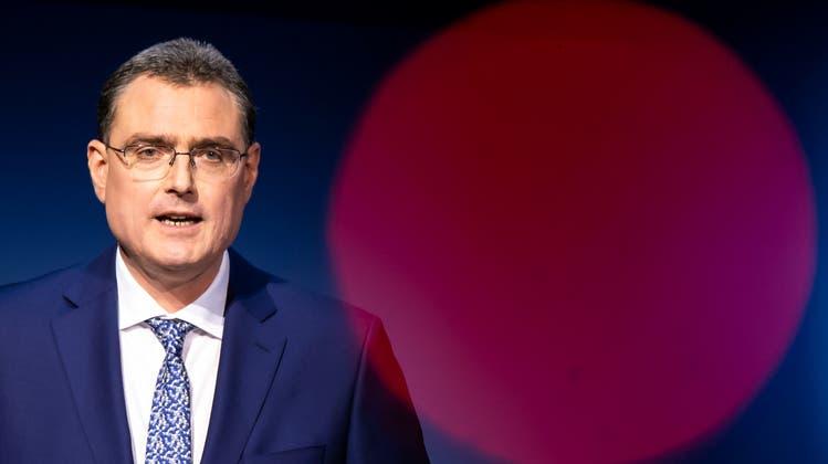 «Die Jahresrechnung der SNB ist daher stark von Buchgewinnen und -verlusten geprägt.» SNB-Chef Thomas Jordan versucht politische Begehrlichkeiten zu dämpfen. (Anthony Anex / KEYSTONE)
