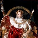 Er krönte sich selbst zum Kaiser Frankreichs: Napoleon Bonaparte 1804 auf seinem Thron. (Bild: Getty Images)