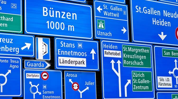 Für die gleiche richtung gibts in der Schweiz einen Haufen unterschiedliche Bezeichnungen. (Keystone)