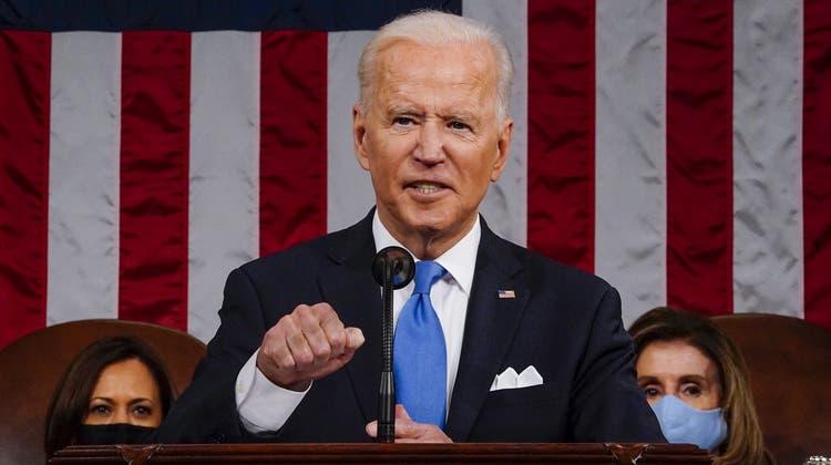 US-Präsident Joe Biden nimmt die Schweiz ins Visier: Den Vorwurf der «Steueroase» lässt Bern indes nicht auf sich sitzen. (Melina Mara / Pool / EPA)