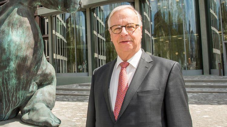 Andreas Burckhardt (69) tritt heute als Baloise-Chef ab. (Bild: Nicole Nars-Zimmer)