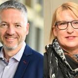 Thomas Marbet soll Stadtpräsident, Marion Rauber Vizepräsidentin werden. (Bilder: Bruno Kissling)