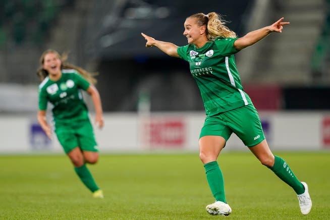 Haben die Frauen des FC St.Gallen-Staad am Samstag in Genf wieder Grund zum jubeln? Im Bereich des Möglichen liegt es.