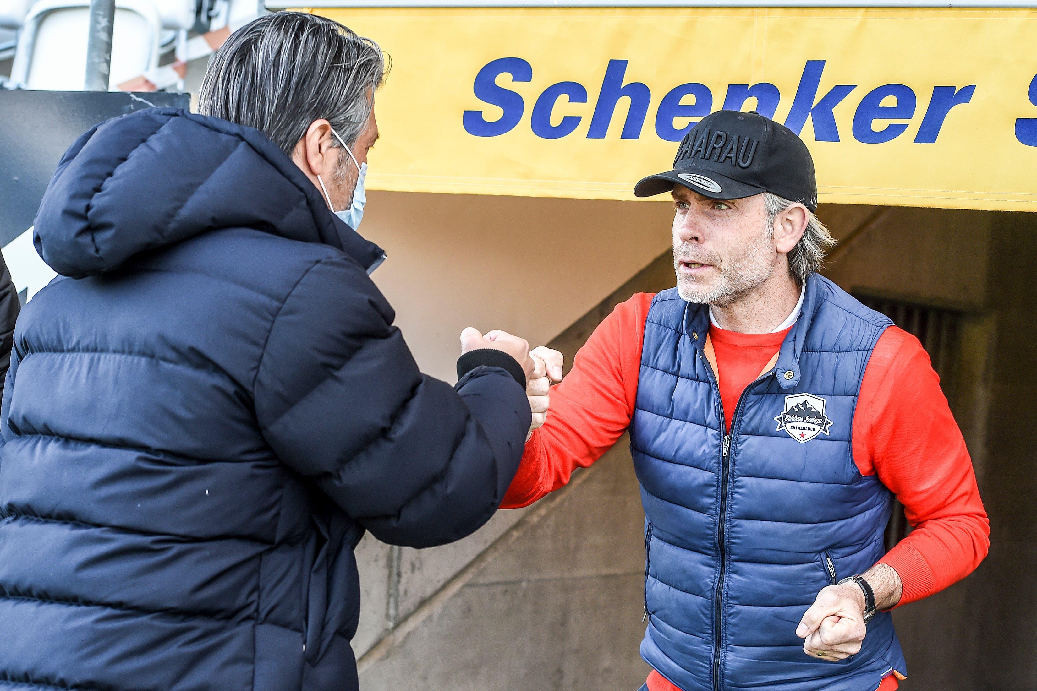 Dabei kommt es zum Trainerduell zwischen Stephan Keller (r.) und Murat Yakin.