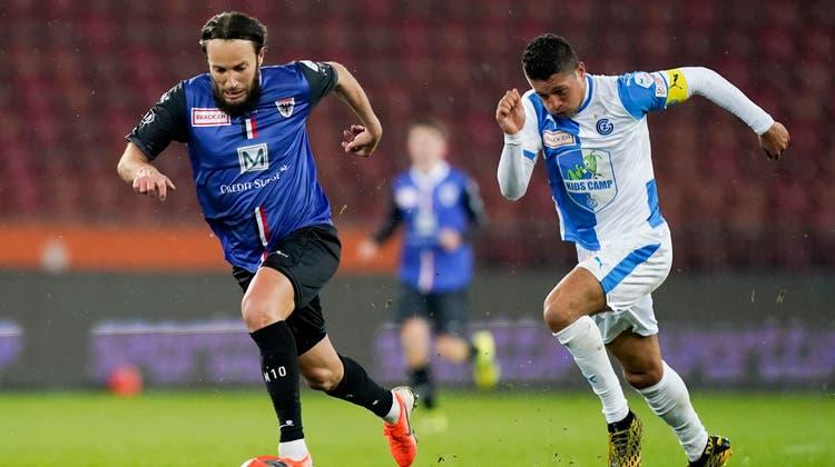 Gashi (links) kann gegen seinen Ex-Klub verletzungshalber nicht mittun. (Claudio Thoma / freshfocus)
