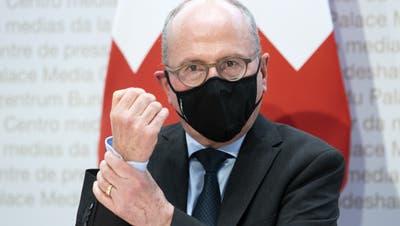 Der St. Galler Regierungsrat Fredy Fässler, am Donnerstag, 30. April 2021, in Bern. (Peter Klaunzer / KEYSTONE)