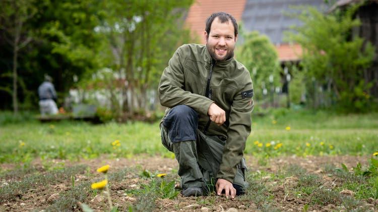 Christian Riggenbach ist Biobauer auf demRosegghof. (Michel Lüthi)