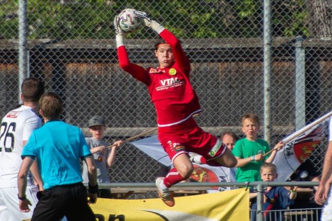Schon im letzten Spiel gegen den FC Breitenrain konnte der SCB recht entspannt aufspielen. Zum Einsatz kam der zweite Goalie, der junge und «eigene» Alban Berisha.
