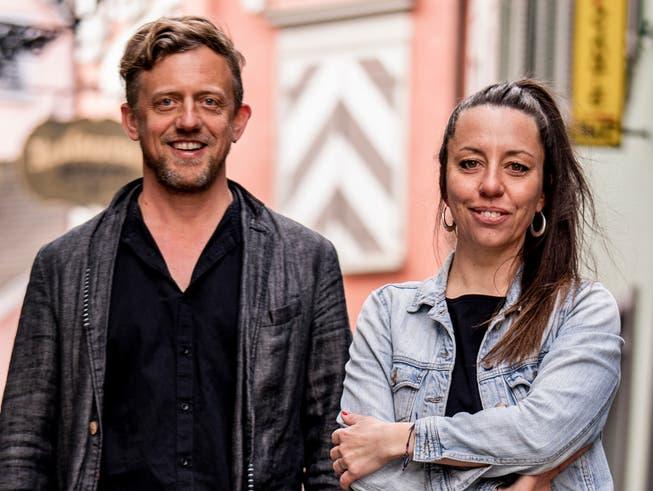 Peter Olibet und Jenny Heeb, das neue Co-Präsidium der SP der Stadt St.Gallen.
