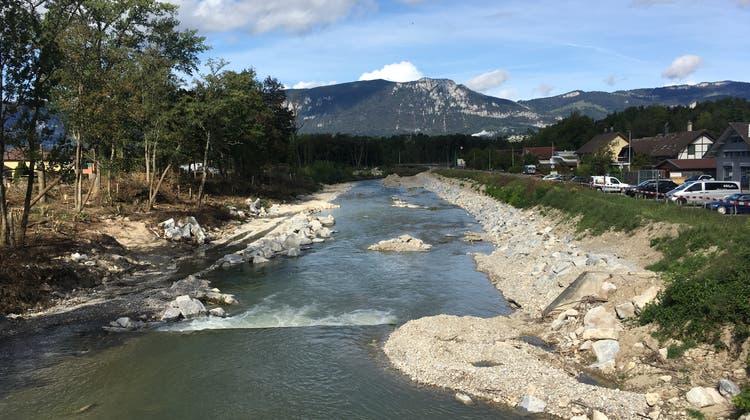 Für den Hochwasserschutz an der Emme wurde zwischen Derendingen und Luterbach viel gearbeitet. (Amt Für Umwelt, Kanton Solothurn / Gabriel Zenklusen)