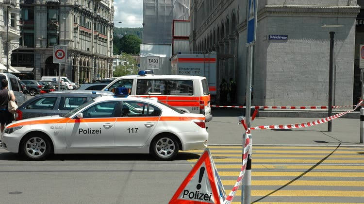 Die Stadtpolizei Zürich hat die Sihlstrasse teilweise gesperrt. (Symbolbild) (CH Media)