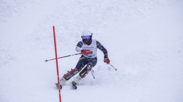Sean Weber holt den Sieg im Slalom. (Bild: Alex Kündig)