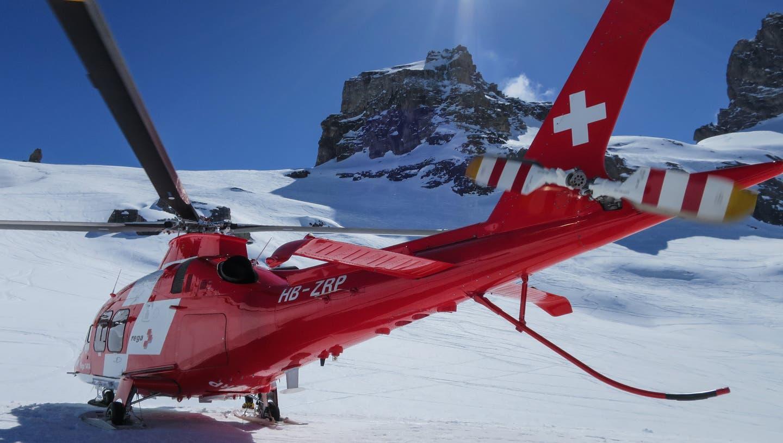 Zum Beispiel am Chlyn Wendenstockim Berner Oberland hat die Rega am Sonntag einen verunfallten Bergsteiger und seinen Begleiter gerettet. (Rega)
