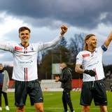 Der FC Aarau übernimmt schon früh das Spieldiktat. (freshfocus)