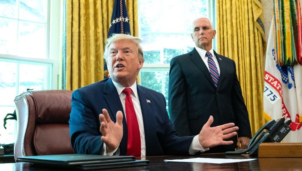 Der damalige US-Präsident Donald Trump (links) trat aus dem Atomabkommen mit dem Iran aus. (Keystone)