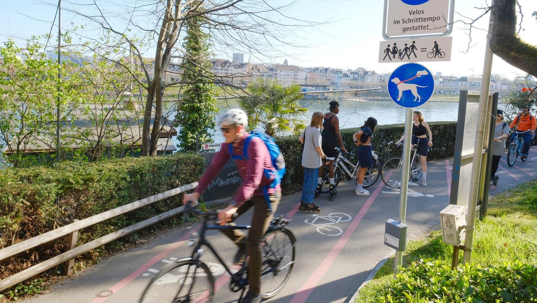 «Sensibler Raum mit konkurrierenden Ansprüchen»: Velofahrer, Jogger und Hündeler nutzen denselben Weg. (Kenneth Nars)