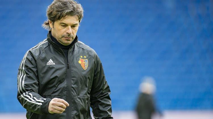Ciriaco Sforza nach der Niederlage gegen den FC Vaduz. (Patrick Straub / KEYSTONE)
