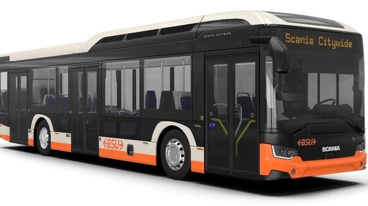 Etwa so werden die beiden Elektrobusse des BSU aussehen, die ab Frühjahr 2022 auf Solothurner Strassen verkehren sollen. (zvg)