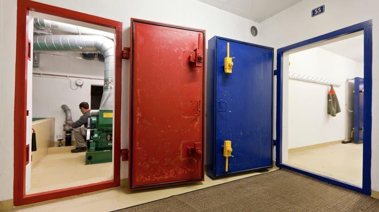 Ausgediente Zivilschutzanlagen werden zu öffentlichen Schutzräumen für die Bevölkerung umgebaut. (Gaetan Bally / Keystone)