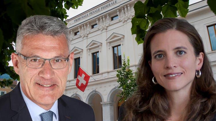 Wieder einmal in den Schlagzeilen: Das Bundesstrafgericht in Bellinzona. (Keystone)