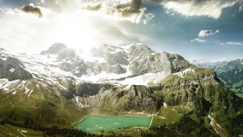 «EWN Natur»- und «EWN Sonne»-Strom kommt unter anderem aus dem Bannalpstausee. (Bild: PD)