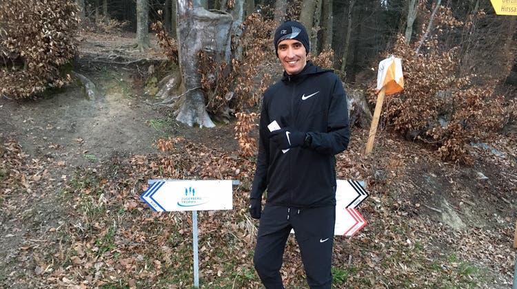 Halbmarathon-Spezialist Kamal Bouchboura auf seiner ersten Runde der Zugerberg Finanz Trophy. (Bild: PD)