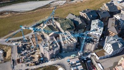Die Bautätigkeit in Andermatt ist weiterhin umweltverträglich. (Bild: Valentin Luthiger/PD)