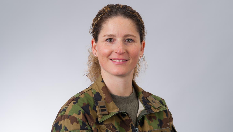 Erste Präsidentin der Obwaldner Offiziere: die 40-jährigeCorina Gantenbein. (Bild: PD)