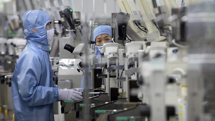 China fördert die Halbleiterproduktion (im Bild eine Fabrik der Renesas Electronics in Peking). (Keystone)