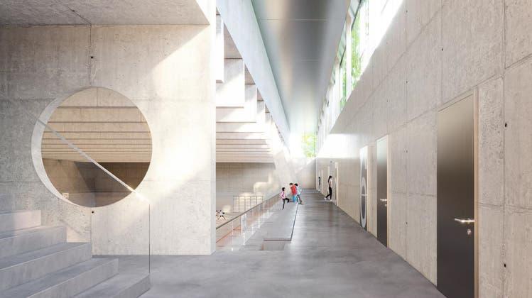 Die geplante Dreifachsporthalle Dorf in Sissach. (Visualisierung: zvg/Nicole Haefeli)