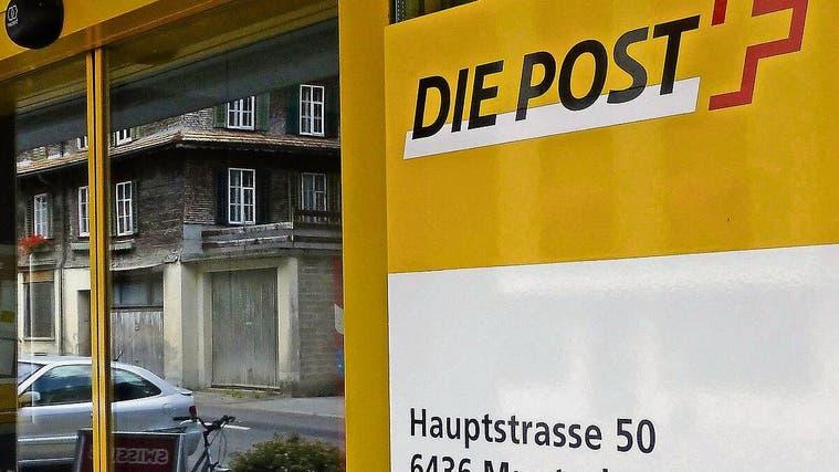 Die Poststelle Muotathal soll erhalten bleiben, dafür sollen sich die Schwyzer Parlamentarier in Bern einsetzen. (Bild: Franz Steinegger/Bote der Urschweiz)