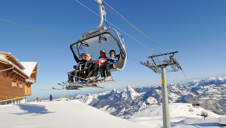 Skifahren ist auch am Gemsstock (hier der Gurschen-Lift) möglich. (Bild: Urs Hanhart)