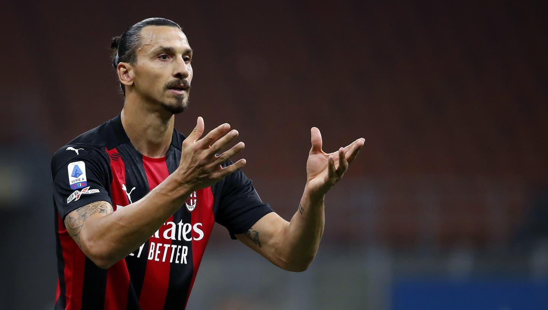 Wenn er nicht im Film spielt, spielt er bei der AC Milan: Zlatan Ibrahimovic. (AP)
