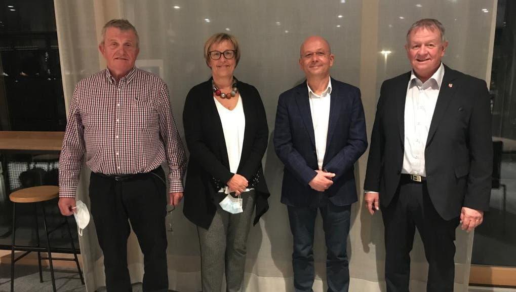 Sie leiten vorläufig die Geschicke des Zweckverbandes Sozialregion Thal-Gäu. (v.l.) Bruno Born, Yvonne Stieger, Markus Wyss, Theodor Hafner (Frb)