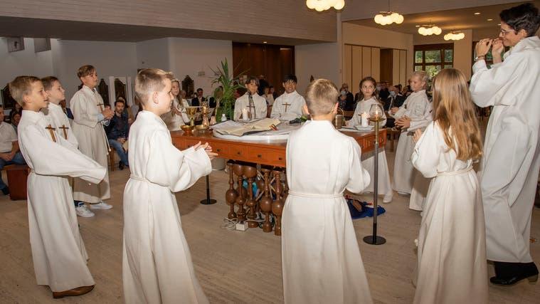 In Stein gingen die Kinder 2020 Ende August zur Erstkommunion, auch schon wegen Corona. (zvg)