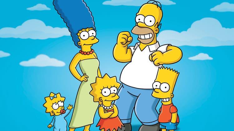 Die Familie Simpsons. In Folge 702 stammt die Eröffnungssequenz aus der Schweiz. (Keystone)