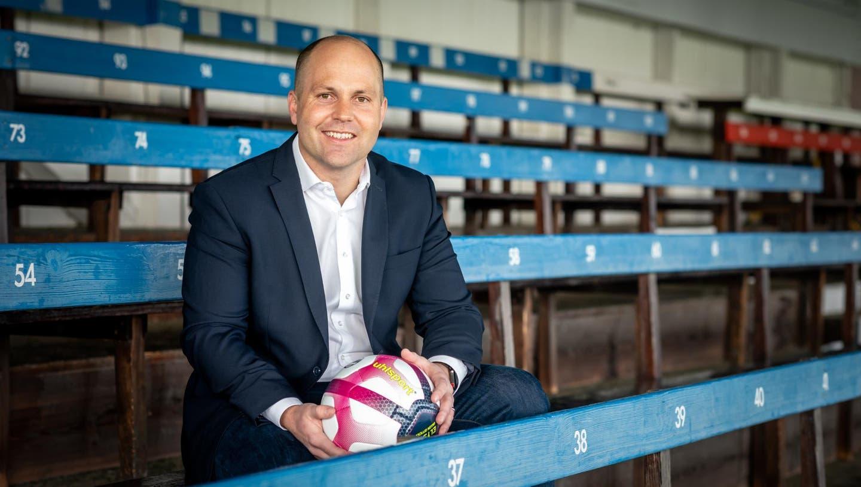 Samuel Scheidegger, von 2014 bis 2020 Präsident des FC Solothurn, seit Ende 2020 im Co-Präsidium mit Marc Kalousek. Und bald Präsident der Ersten Liga? (Michel Lüthi)