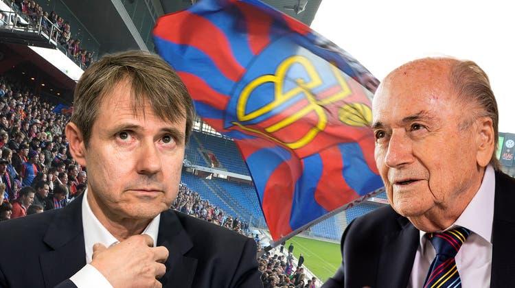 Bernhard Burgener (links) und Sepp Blatter. (Bildmontage: Dominic Kobelt)