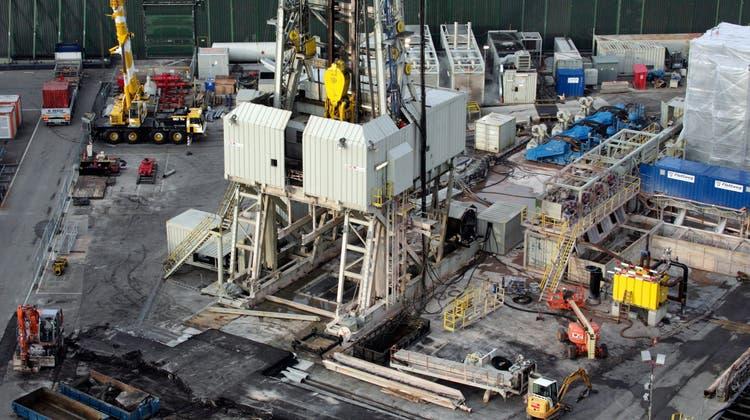 2010 beendete ein Erdbebendie Geothermie-Hoffnungen auf der Bohrstelle in Basel. (Georgios Kefalas/Key)