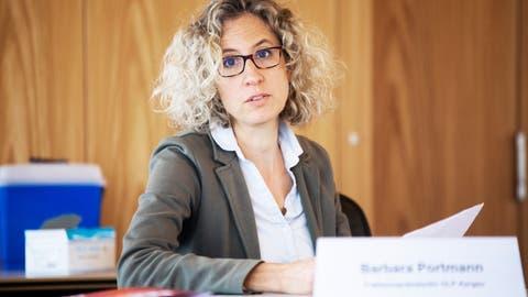 Barbara Portmann, Fraktionspräsidentin der GLP, fordert mehr Transparenz und eine betragsmässige Obergrenze für Geschäfte von Verwaltungsräten der Kantonsspitäler. (Britta Gut)