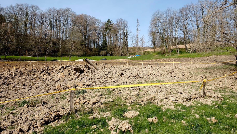 Hier barst die Erdgasleitung, oberhalb befand sich die nun stillgelegte Deponie Eichenkeller. (Kenneth Nars)