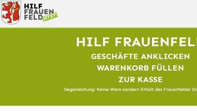 Screenshot der Onlineplattform www.hilf-frauenfeld.ch. (Bild: Mathias Frei)