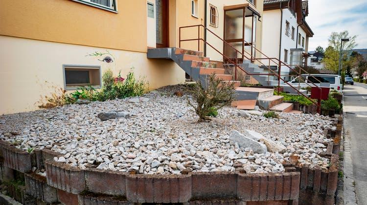 Schottergärten sieht man fast überall, wie hier in Therwil, so wie womöglich bald nicht mehr erstellt werden dürfen. (Kenneth Nars)