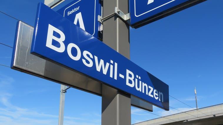 Den Bahnhof teilen sich Boswil und Bünzen bereits. (Marc Ribolla)