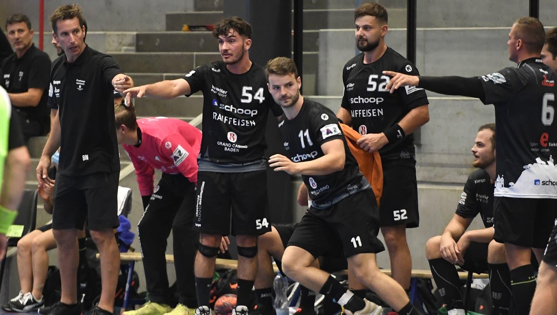 Die Spieler des STV Baden dürfen am Samstag nicht gegen Wädenswil/Horgen antreten. (Alexander Wagner / FOTO Wagner)